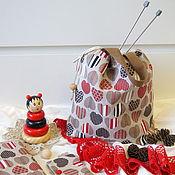 Сумка-мешок ручной работы. Ярмарка Мастеров - ручная работа Сумка для проектов сумка-мешок сумка для вязания. Handmade.