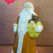 Винтаж ручной работы. Ярмарка Мастеров - ручная работа Дед Мороз .Реставрация. композитный (опилочный). Handmade.