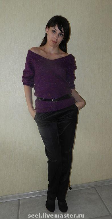 """Кофты и свитера ручной работы. Ярмарка Мастеров - ручная работа. Купить пуловер """"Сolor drops"""". Handmade. Тёмно-фиолетовый, оригинальный"""