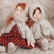 Материалы для творчества ручной работы. Ярмарка Мастеров - ручная работа Мастер - класс Курс Кукла в винтажном стиле из паперклея и текстиля. Handmade.