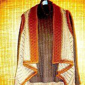 Одежда ручной работы. Ярмарка Мастеров - ручная работа накидка-жилет. Handmade.