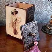 """Для дома и интерьера ручной работы. Ярмарка Мастеров - ручная работа Короб """"Незнакомка"""". Handmade."""
