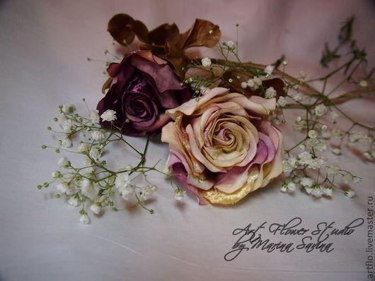 """Интерьерные композиции ручной работы. Ярмарка Мастеров - ручная работа. Купить Роза бархатная """"Винтаж"""" - интерьерная. Handmade. Бордовый"""