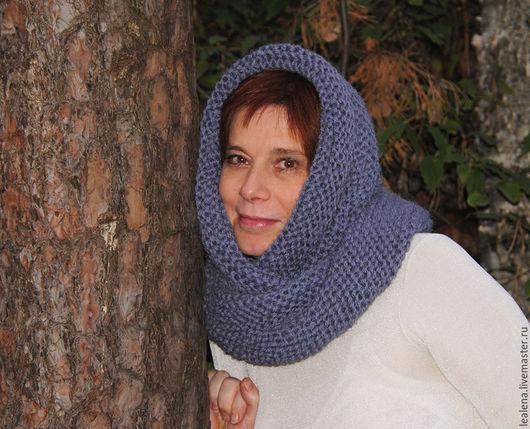 """Шали, палантины ручной работы. Ярмарка Мастеров - ручная работа. Купить Очень теплый снуд-шарф """" Ждем снегопад"""" ( шерсть). Handmade."""