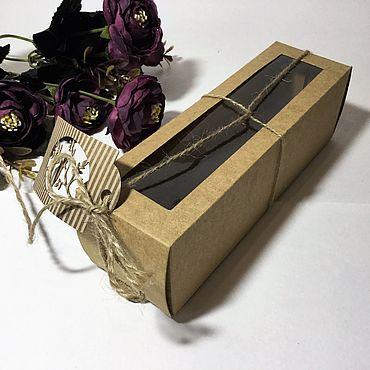 Дизайн и реклама ручной работы. Ярмарка Мастеров - ручная работа Коробочка упаковочная Крафт. Handmade.