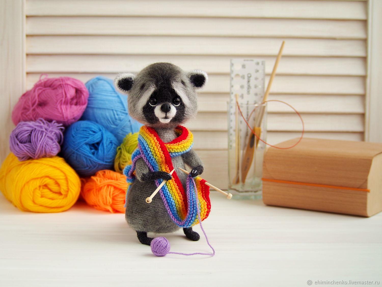 Knitted interior toy Raccoon-povazan, Stuffed Toys, Yoshkar-Ola,  Фото №1