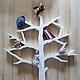 Детская ручной работы. Белое дерево-стеллаж для детской комнаты 3. R.O.M. - Dekor. Интернет-магазин Ярмарка Мастеров.