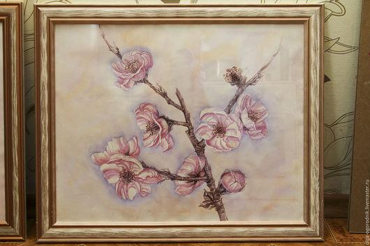 """Картины цветов ручной работы. Ярмарка Мастеров - ручная работа. Купить """"Цветущая ветка"""". Handmade. Акварель, картина с цветами"""