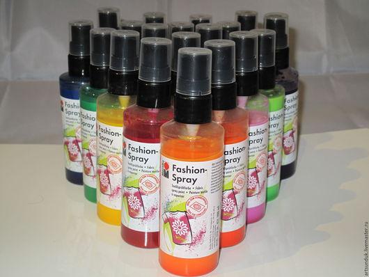 Другие виды рукоделия ручной работы. Ярмарка Мастеров - ручная работа. Купить Спрей-краска на водной основе для ткани Marabu Fashion-Spray.. Handmade.