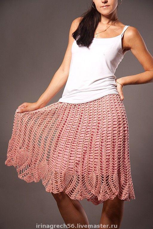 """Юбки ручной работы. Ярмарка Мастеров - ручная работа. Купить юбка ажурная   """"годе"""". Handmade. Ажурная юбка, 100% хлопок"""
