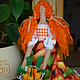 Куклы Тильды ручной работы. Ярмарка Мастеров - ручная работа. Купить Тильда,,Дачница с морковками,,. Handmade. Оранжевый, морковь, холлофайбер