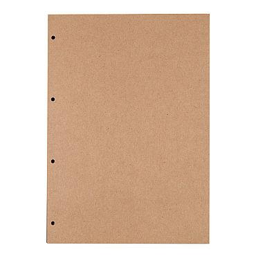 Канцелярские товары ручной работы. Ярмарка Мастеров - ручная работа Блок А4 скетчбук с крафтовыми листами для блокнота на кольцах. Handmade.