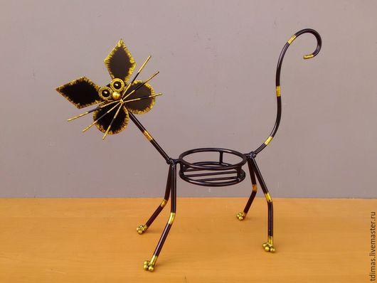 Подсвечники ручной работы. Ярмарка Мастеров - ручная работа. Купить Подставка под цветы кот. Handmade. Подставка, прикольный подарок
