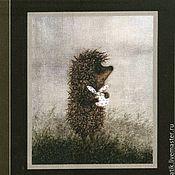 Материалы для творчества ручной работы. Ярмарка Мастеров - ручная работа лоскут ткани  Ежик в тумане. Handmade.