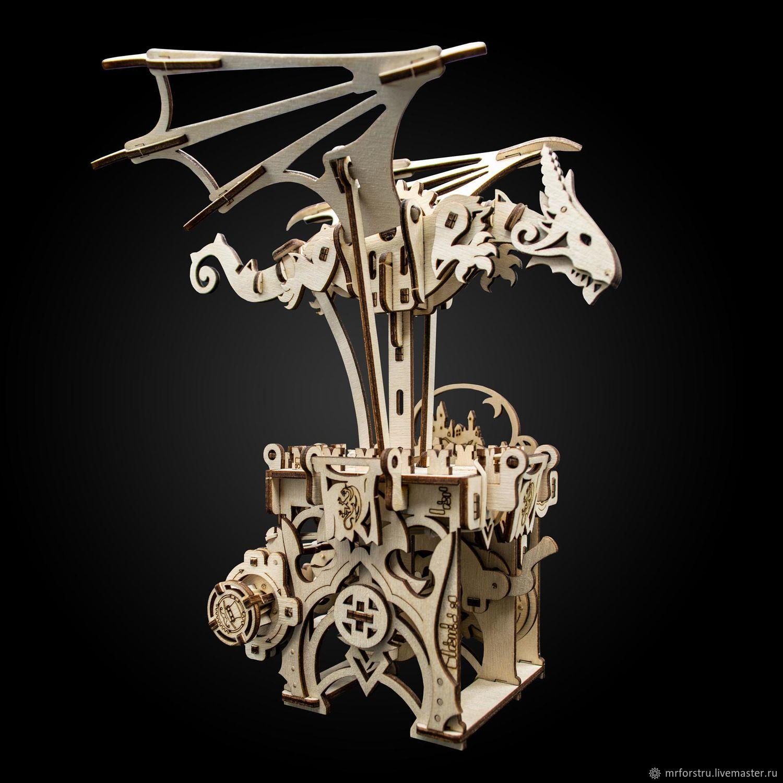 Деревянный конструктор «Механический дракон», Техника роботы транспорт, Липецк,  Фото №1