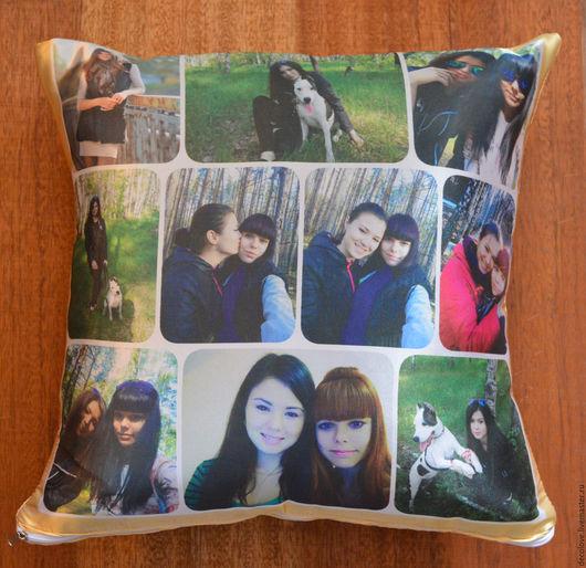 Текстиль, ковры ручной работы. Ярмарка Мастеров - ручная работа. Купить Подушка с фотографией подарок девушке подарок на день рождения подруге. Handmade.