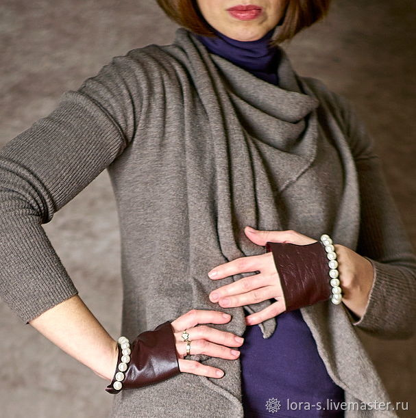 Exclusive car gloves leather Bordeaux Gift to your loved ones, Mitts, Dusseldorf,  Фото №1