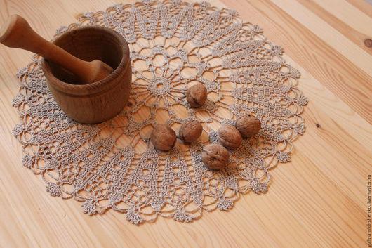 Текстиль, ковры ручной работы. Ярмарка Мастеров - ручная работа. Купить Салфетка № 181. Handmade. Бежевый, салфетка крючком