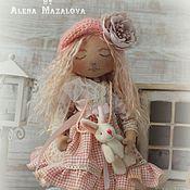 Куклы и игрушки ручной работы. Ярмарка Мастеров - ручная работа Ванилька ... Текстильная интерьерная куколка. Handmade.