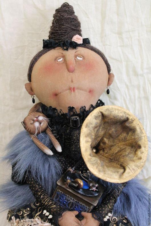 Коллекционные куклы ручной работы. Ярмарка Мастеров - ручная работа. Купить Муза Сигизмундовна. Handmade. Комбинированный, котик