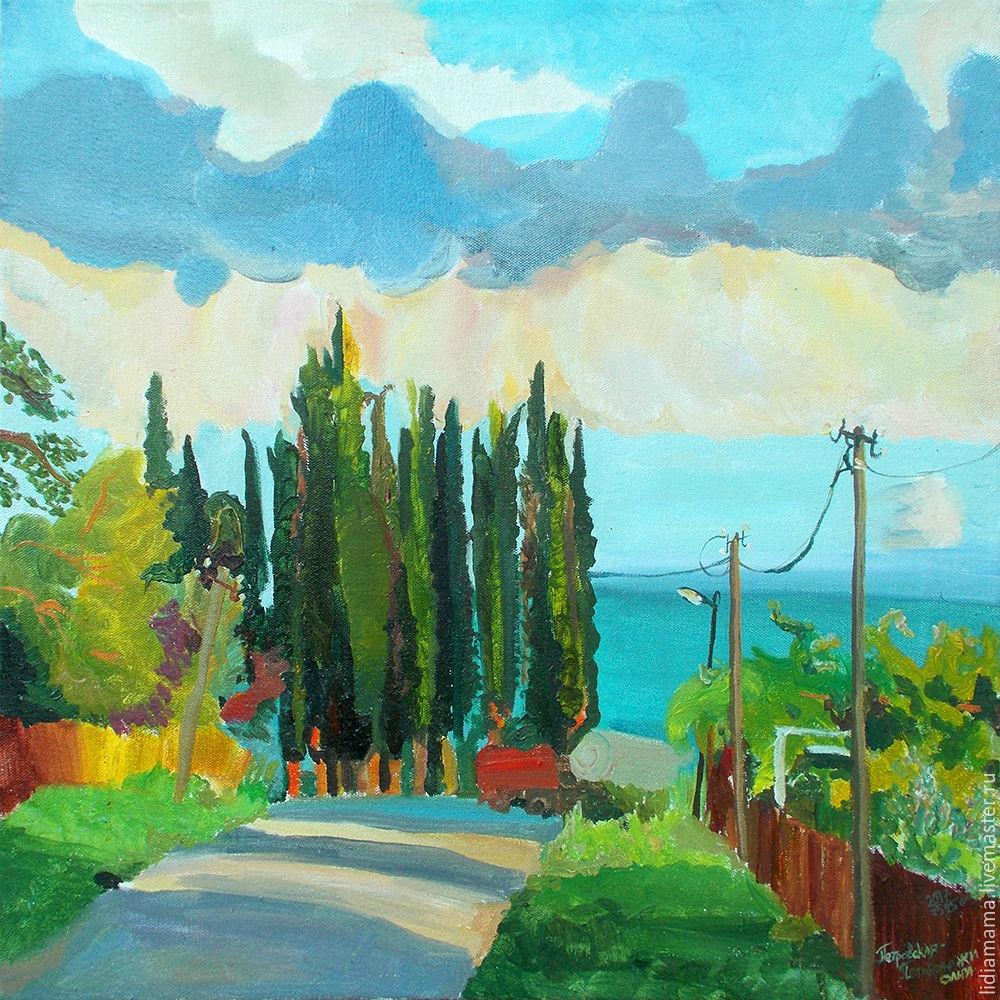 Southern eve the artwork by Olga Petrovskaya-Petovraji