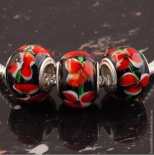 Для украшений ручной работы. Ярмарка Мастеров - ручная работа. Купить Бусина для евро-браслета №43 (1шт). Handmade.