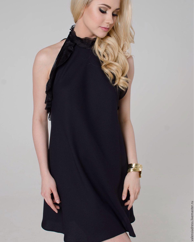 Черное платье вечернее коктейльное