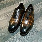 Обувь ручной работы handmade. Livemaster - original item Men`s oxfords, made of genuine leather, 100% handmade.. Handmade.