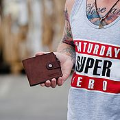 Сумки и аксессуары handmade. Livemaster - original item Wallet leather men BRANDENBURG. Handmade.