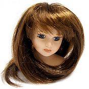 Материалы для творчества ручной работы. Ярмарка Мастеров - ручная работа волосы для кукол прямые каштан. Handmade.