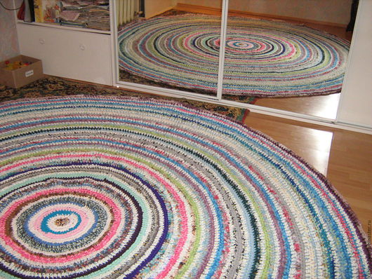 Текстиль, ковры ручной работы. Ярмарка Мастеров - ручная работа. Купить очень большой коврик. Handmade. Комбинированный, коврик крючком