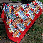 """Для дома и интерьера ручной работы. Ярмарка Мастеров - ручная работа Лоскутное одеяло """"Плетёнка"""". Handmade."""