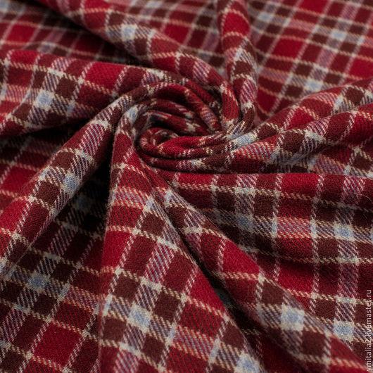 Шитье ручной работы. Ярмарка Мастеров - ручная работа. Купить Шерсть пальтовая в клеточку  Vivienne WESTWООD. Handmade. Ткани Италии