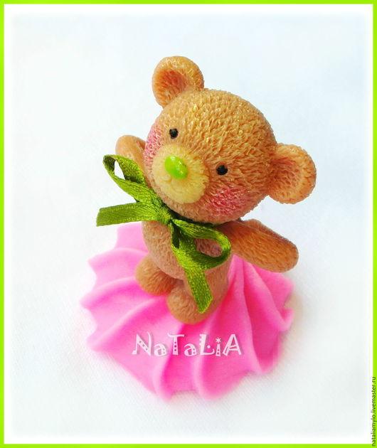 """Мыло ручной работы. Ярмарка Мастеров - ручная работа. Купить Мыло """"Зефирный Мишка"""". Handmade. Розовый, подарок"""
