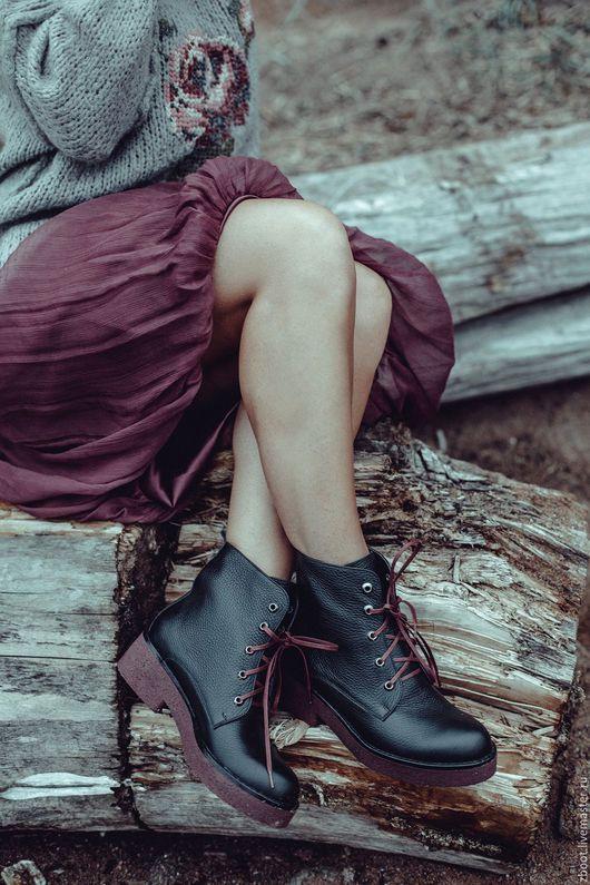 Обувь ручной работы. Ярмарка Мастеров - ручная работа. Купить -40%! Ботинки Brook. Handmade. Черный, обувь ручной работы