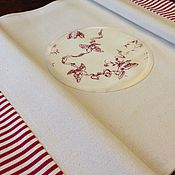 """Для дома и интерьера ручной работы. Ярмарка Мастеров - ручная работа Сервировочная дорожка 39х99см """"туаль де жуи"""". Handmade."""