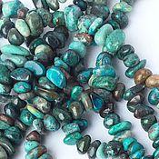 _Хризоколла нить 20 см крошка камни бусины для украшений