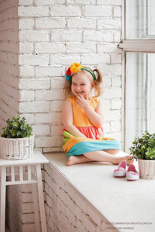 """Одежда для девочек, ручной работы. Ярмарка Мастеров - ручная работа. Купить Детское платье""""Мексика""""(1). Handmade. Летнее платье"""