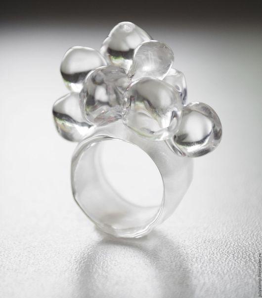 """Кольца ручной работы. Ярмарка Мастеров - ручная работа. Купить Кольцо """"Кубики льда"""". Handmade. Стекло, оригинальное украшение, прозрачный"""