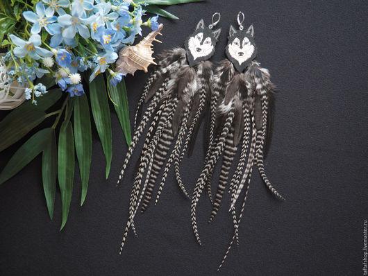 Серьги с перьями - необычное украшение в стиле бохо! Серьги, перья, серьги из перьев, перья, перо, яркие серьги, длинные серьги с перьями, купить серьги с перьями можно у нас! Серьги ручной работы)