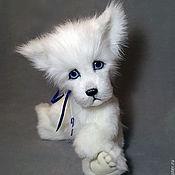 Куклы и игрушки ручной работы. Ярмарка Мастеров - ручная работа волк тедди Белый. Handmade.