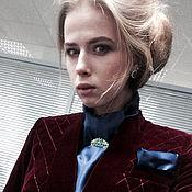 Одежда handmade. Livemaster - original item Velvet jacket. Deep red.. Handmade.