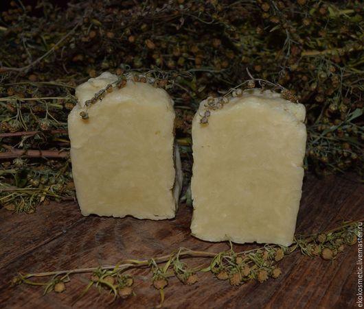 Мыло ручной работы. Ярмарка Мастеров - ручная работа. Купить Полынь-трава.Натуральное мыло.Мыло с полынью. Handmade. Бежевый