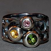 """Украшения ручной работы. Ярмарка Мастеров - ручная работа """"Омунюс"""" - кольцо с турмалинами и цитрином. Handmade."""