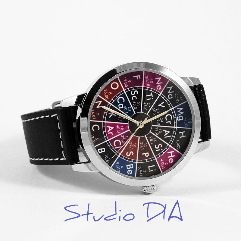 Часы Химические Элементы. Студия Дизайнерских Часов DIA.