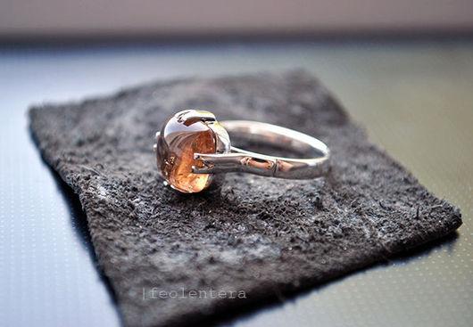 Кольца ручной работы. Ярмарка Мастеров - ручная работа. Купить Serenoke - серебряное кольцо с турмалином (серебро 925). Handmade. Кремовый