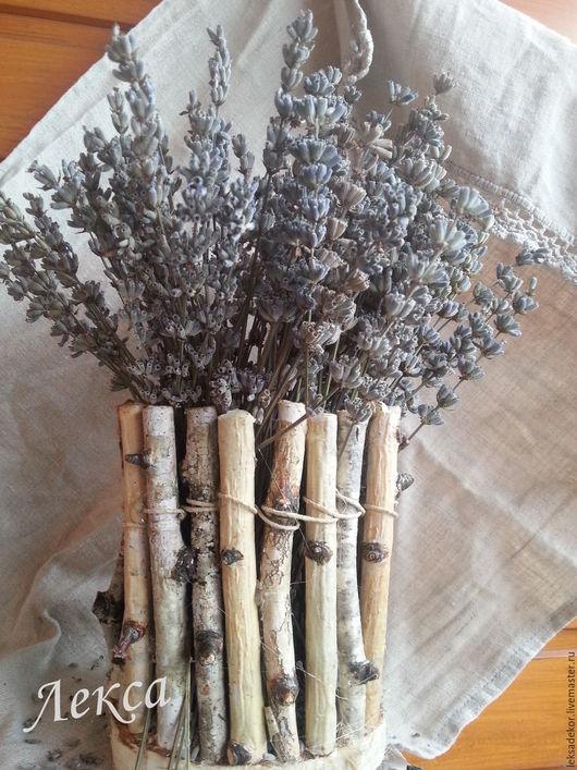 Кашпо в стиле рустик для цветов и сухоцветов. Эко-декор.