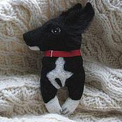 Украшения handmade. Livemaster - original item Portrait Felted brooch Doggy. Handmade.