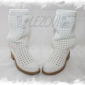 Ankle boot handmade. Livemaster - original item Copy of Copy of Copy of Summer Boots (Pineapple). Handmade.
