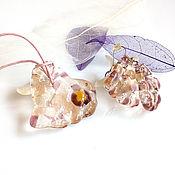 Украшения handmade. Livemaster - original item Set of jewelry from glass Crystal ice fusing.. Handmade.